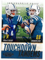 REGGIE WAYNE & ANDREW LUCK INDIANAPOLIS COLTS DOUBLE AUTOGRAPHED FOOTBALL CARD #10919i
