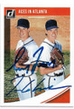 GREG MADDUX & TOM GLAVINE ATLANTA BRAVES DOUBLE AUTOGRAPHED BASEBALL CARD #10919J