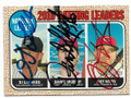 DJ LeMATHIEU, DANIEL MURPHY & JOEY VOTTO COLORADO ROCKIES, WASHINGTON NATIONALS & CINCINNATI REDS TRIPLE AUTOGRAPHED BASEBALL CARD #11019C