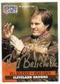 BILL BELICHICK CLEVELAND BROWNS AUTOGRAPHED FOOTBALL CARD #11019G