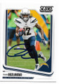 TRAVIS BENJAMIN SAN DIEGO CHARGERS AUTOGRAPHED FOOTBALL CARD #11019L