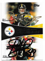 BEN ROETHLISBERGER & TROY POLAMALU PITTSBURGH STEELERS DOUBLE AUTOGRAPHED FOOTBALL CARD #11219B
