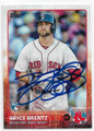 BRYCE BRENTZ BOSTON RED SOX AUTOGRAPHED ROOKIE BASEBALL CARD #11219E