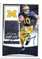 TOM BRADY UNIVERSITY OF MICHIGAN WOLVERINES AUTOGRAPHED FOOTBALL CARD #11219F