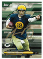 AARON RODGERS UNIVERSITY OF CALIFORNIA BERKELY GOLDEN BEARS AUTOGRAPHED FOOTBALL CARD #11219K