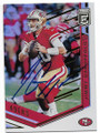 JIMMY GAROPPOLO SAN FRANCISCO 49ers AUTOGRAPHED FOOTBALL CARD #11319J