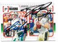 DAN MARINO & DREW BREES MIAMI DOLPHINS & NEW ORLEANS SAINTS DOUBLE AUTOGRAPHED FOOTBALL CARD #11319N