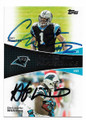 CAM NEWTON ROOKIE & DeANGELO WILLIAMS CAROLINA PANTHERS DOUBLE AUTOGRAPHED FOOTBALL CARD #11419A