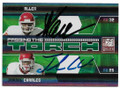 MARCUS ALLEN & JAMAAL CHARLES KANSAS CITY CHIEFS DOUBLE AUTOGRAPHED & NUMBERED FOOTBALL CARD #11419C
