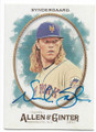 NOAH SYNDERGAARD NEW YORK METS AUTOGRAPHED BASEBALL CARD #11419i