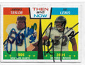 LAWRENCE TAYLOR & RAY LEWIS NEW YORK GIANTS & BALTIMORE RAVENS DOUBLE AUTOGRAPHED FOOTBALL CARD #11419J