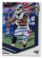 TODD GURLEY LOS ANGELES RAMS AUTOGRAPHED FOOTBALL CARD #11519B