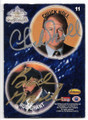 CHUCK NOLL & BUD GRANT PITTSBURGH STEELERS & MINNESOTA VIKINGS DOUBLE AUTOGRAPHED POG CARD #11519D