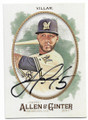 JONATHAN VILLAR MILWAUKEE BREWERS AUTOGRAPHED BASEBALL CARD #11519E
