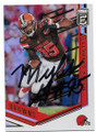 MYLES GARRETT CLEVELAND BROWNS AUTOGRAPHED FOOTBALL CARD #11619H