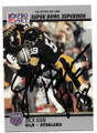 JACK HAM PITTSBURGH STEELERS AUTOGRAPHED FOOTBALL CARD #11819A