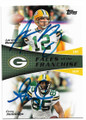 AARON RODGERS & GREG JENNINGS GREEN BAY PACKERS DOUBLE AUTOGRAPHED FOOTBALL CARD #11819C
