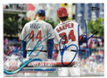 ANTHO0NY RIZZO & BRYCE HARPER CHICAGO CUBS & WASHINGTON NATIONALS DOUBLE AUTOGRAPHED BASEBALL CARD #11819E