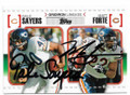 GALE SAYERS & MATT FORTE CHICAGO BEARS DOUBLE AUTOGRAPHED FOOTBALL CARD #11819H