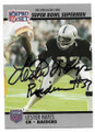 LESTER HAYES OAKLAND/LOS ANGELES RAIDERS AUTOGRAPHED VINTAGE FOOTBALL CARD #11819J
