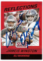 JAMEIS WINSTON & ELI MANNING TAMPA BAY BUCCANEERS AND NEW YORK GIANTS DOUBLE AUTOGRAPHED FOOTBALL CARD #11919A