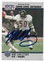 MIKE SINGLETARY CHICAGO BEARS AUTOGRAPHED VINTAGE FOOTBALL CARD #11919E