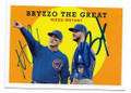ANTHONY RIZZO & KRIS BRYANT CHICAGO CUBS DOUBLE AUTOGRAPHED BASEBALL CARD #11919F