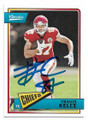 TRAVIS KELCE KANSAS CITY CHIEFS AUTOGRAPHED FOOTBALL CARD #11919J