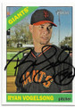RYAN VOGELSONG SAN FRANCISCO GIANTS AUTOGRAPHED BASEBALL CARD #11919K