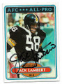 JACK LAMBERT PITTSBURGH STEELERS AUTOGRAPHED VINTAGE FOOTBALL CARD #12019A
