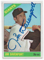 JIM DAVENPORT SAN FRANCISCO GIANTS AUTOGRAPHED VINTAGE BASEBALL CARD #12019B