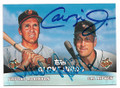 BROOKS ROBINSON & CAL RIPKEN JR BALTIMORE ORIOLES DOUBLE AUTOGRAPHED BASEBALL CARD #12019D