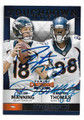PEYTON MANNING & DEMARYIUS THOMAS DENVER BRONCOS DOUBLE AUTOGRAPHED FOOTBALL CARD #12019H