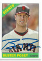 BUSTER POSEY SAN FRANCISCO GIANTS AUTOGRAPHED BASEBALL CARD #12119A