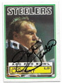 JACK LAMBERT PITTSBURGH STEELERS AUTOGRAPHED VINTAGE FOOTBALL CARD #12119B