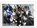 KEITH, WAYNE & BRENT GRETZKY TRIPLE AUTOGRAPHED HOCKEY CARD #12119C
