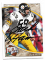 JACK HAM PITTSBURGH STEELERS AUTOGRAPHED FOOTBALL CARD #12119E