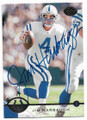 JIM HARBAUGH INDIANAPOLIS COLTS AUTOGRAPHED FOOTBALL CARD #12119F
