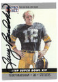 TERRY BRADSHAW PITTSBURGH STEELERS AUTOGRAPHED VINTAGE FOOTBALL CARD #12119H