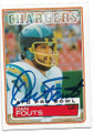 DAN FOUTS SAN DIEGO CHARGERS AUTOGRAPHED VINTAGE FOOTBALL CARD #12119i