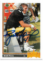 BRETT FAVRE ATLANTA FALCONS AUTOGRAPHED ROOKIE FOOTBALL CARD #12119K