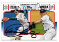 DENNIS ECKERSLEY & MARIANO RIVERA OAKLAND A's & NEW YORK YANKEES DOUBLE AUTOGRAPHED BASEBALL CARD #12219B