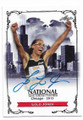 LOLO JONES TRACK AND FIELD CHAMPION AUTOGRAPHED CARD #12219J