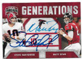 STEVE BARTKOWSKI & MATT RYAN ATLANTA FALCONS DOUBLE AUTOGRAPHED FOOTBALL CARD #12219K