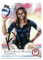 KARI LaRAINE MILLER U.S. VOLLEYBALL AUTOGRAPHED OLYMPICS CARD #12319A