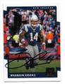 BRANDIN COOKS NEW ENGLAND PATRIOTS AUTOGRAPHED FOOTBALL CARD #12319B