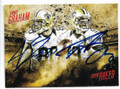 JIMMY GRAHAM & BREW BREES NEW ORLEANS SAINTS DOUBLE AUTOGRAPHED FOOTBALL CARD #12419A