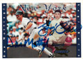 YOGI BERRA & DON MATTINGLY NEW YORK YANKEES DOUBLE AUTOGRAPHED BASEBALL CARD #12419C