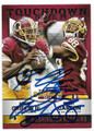 ROBERT GRIFFIN III & PIERRE GARCON WASHINGTON REDSKINS DOUBLE AUTOGRAPHED FOOTBALL CARD #12419D