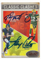 AARON RODGERS & JAY CUTLER GREEN BAY PACKERS & CHICAGO BEARS DOUBLE AUTOGRAPHED FOOTBALL CARD #12419F